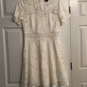 Topshop White Lace Dress